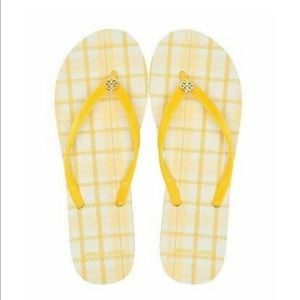 Tory Burch FlipFlop Check In Plaid Sunlight Yellow